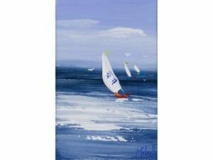 Three Boats a Sailing