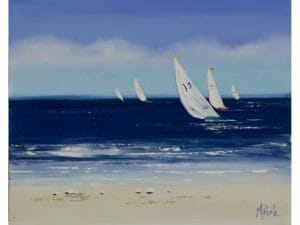 Five Yachts into the Wind