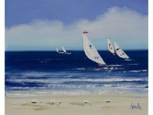 Five Yachts a Sailing
