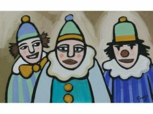 Three Clowns Yes No & Maybe