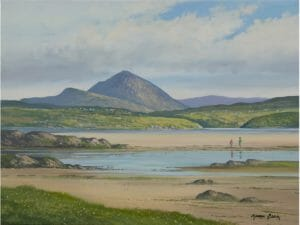 Errigal Mountain Across Braade Strand